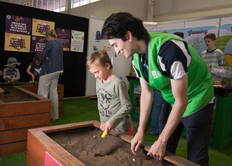 Perth Royal Show Potatoes Volunteer